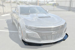 Zl1 1le Style Glossy Black Front Bumper Lower Lip Splitter For 19-up Camaro