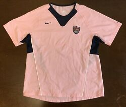 Rare Nike Usa Uswnt Pink Breast Cancer Edition Futbol Soccer Jersey Women's M