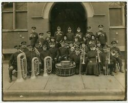 Music Band Of Salvation Army Citadel London On Canada Photo Drum Trumpet