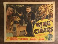 Ultra Rare 1935 King Of The Circus Window Card Movie Poster 11 X 14