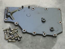 1982 Evinrude Johnson 55 Hp Outboard Powerhead Exhaust Manifold Cover Plate - 50