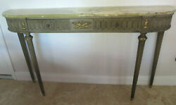 Antique Louis Xvi-style Green Onyx-top Console