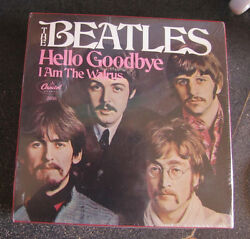 The Beatles Limited Edition 7 Vinyl Hello Goodbye/i Am The Walrus And L/xl Tshirt