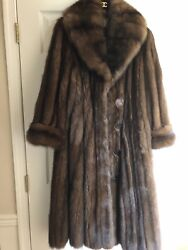 SABLE RUSSIAN 2019 BARGUZIN NEW TAGS Brown Silver Grey coat L-XL Light weight47K
