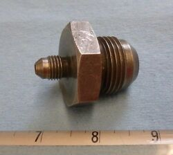 An919-21 Fitting Male To Male Reducer 37 Degrees Steel 1 X 1/4 Tube Size