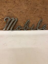 Antigue Mobile Trucking Crome Sign Rare