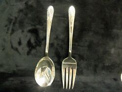 Crown Silverplate 1939 Radiance Salad Fork And Spoon Set