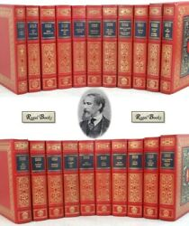 OXFORD LIBRARY of CHARLES DICKENS  Franklin Library - 21 VOL COMPLETE  STUNNING!