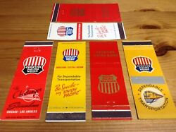 Union Pacific Railroad Matchcover Lot Of 6 Challenger Streamliner