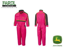 Genuine John Deere Pink Childrens Overalls Kids Coverall Christmas Gift