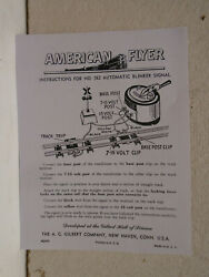 Repro American Flyer M2449 Instructions For 582 Automatic Blinker Signal