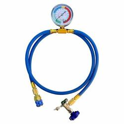 Car Ac Air Conditioning Refrigerant Recharge Hose Gauge Kit For R134a R22 R12