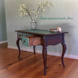 Antique Desk Patina Rusted French Writing Desk Vanity Table Desk Vanity