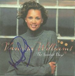 Vanessa Williams Signed The Sweetest Days Cd
