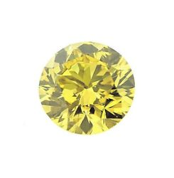 Natural Loose Diamond 2.05 Cts Round Color GIA Certified Fancy Vivid Yellow