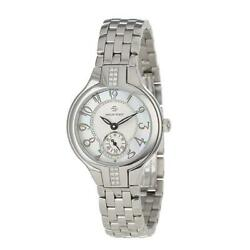 Philip Stein Women's 44sd-fmop-ss5 Stainless Steel Watch With Diamond Studding A