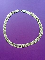 Arezzo Italian 925 Ar230 Stamped Woven Necklace - Vintage Bdt
