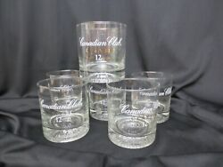 Vintage Canadian Club Classic Aged 12 Years Whiskey Glass