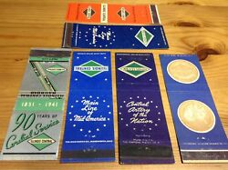 Illinois Central Railroad Matchbook Matchcover Lot Of 6 1941 40s