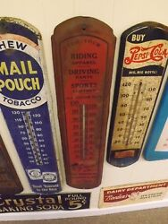 Rare Vintage Rj Becht And Sons Horse Riding Apparel Cincinnati Ohio Thermometer Si