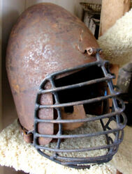 Medieval Heavy Iron Helmet with leather straps SCA