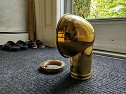 Polished Brass Boat Cowl Vent 11.4 X 8.5