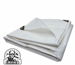 12and039 X 20and039 White Premium 14 Mil Extreme Duty Poly Tarp Free Shipping 5 Off 2+