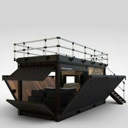 Shipping Container Kiosk Cafe Coffee 160 sq. ft