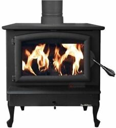 Nc Wood Burning Stove W/ Black Door And Large Queen Anne Black Legs