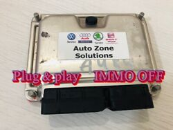 Vw Golf Gti R32 Bfh Ecu Module 022906032cp 0261207805 Immo Off