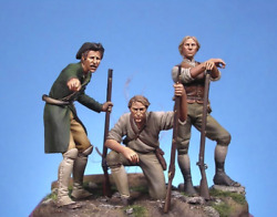 Minutemen At American Revolutionary War Tin Painted Toy Soldier Pre-sale   Art