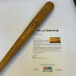 Incredible Mickey Mantle With Sons David And Mickey Jr Signed Bat Psa Dna Coa