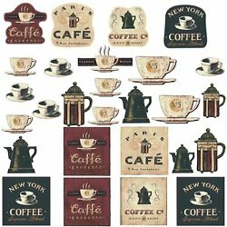 Peel and Stick Wall Decals Coffee House Decor Wall Stickers Cafe Kitchen Bar USA