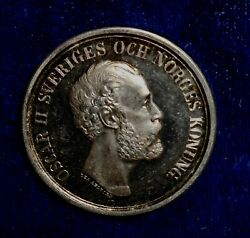 Sweden Nd A 1885 Ar 33.8 Mm Shooting Medal By Bovy