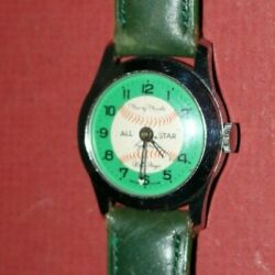 1960and039s Vint. Mickey Mantle/roger Maris/willie Mays All-star Baseball Watch Works