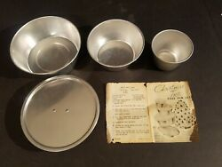 Vintage Christmas Tree Cake 3 Pan Set Stand And Instructions By Artisan Galleries