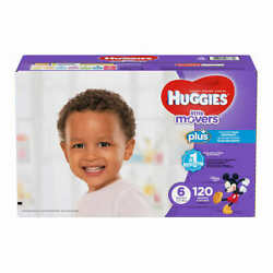 Huggies Plus Diapers Size 6 35lbs And Up 120ct - Free Shipping - New