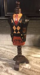 Vintage Hat Mannequin Valet Blackheat Golf Club Store Display Sign On A Stand
