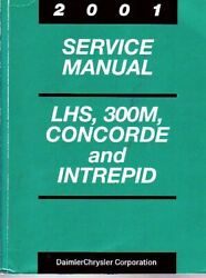 2001 Chrysler Dodge LHS 300M Concorde Intrepid Service Manual