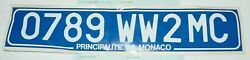 Rare Monaco Export License Number Plate With Export Papers - Sticker- Since 2007