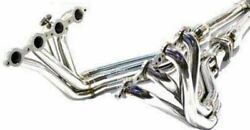Obx S/s Catted Exhaust Header For 01 To 04 Chevy Corvette C5 5.7l V8 Ls1 Ls6 Z06