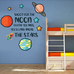Childrens Wall Stickers Nursery Girls Boys Wall Art Rocket Ship Quotes X Large