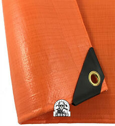 12 Mil Heavy Duty Safety Orange Tarp Tent Car Boat Cover Choose Size 5 Off 2+