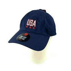 Under Armour Mens OSFA Dad Hat USA HeatGear Blue Red One Size Fits All New $9.99