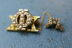 Phi Sigma Kappa Seed Pin With Extension Mint Condition Solid Gold Version
