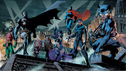 Jim Lee Rare Heroes Giclee Paper Signed Batman Hush Cover Wraparound With Coa