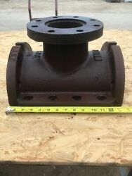 """1961 Mueller Iron Tapping Sleeve Salvage Art, Heavy Base, 4"""" Flange Pipe Fitting"""