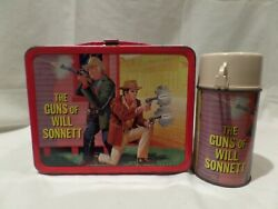 Vintage Rare The Guns Of Will Sonnett Metal Lunch Box With Matching Thermos 19