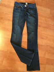 Women's True Religion Becky Slim Flare Jeans 25, Crystal Buttons
