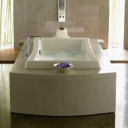 Jacuzzi Allusion Salon Spa 72x36 Oyster/biscuit Whirlpool And Pure Air Both